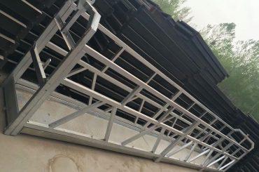 zlp630 / 800 ll-form aluminiumslegering, stålkonstruksjonshengt arbeidsplattformløft på bygningsvinduer